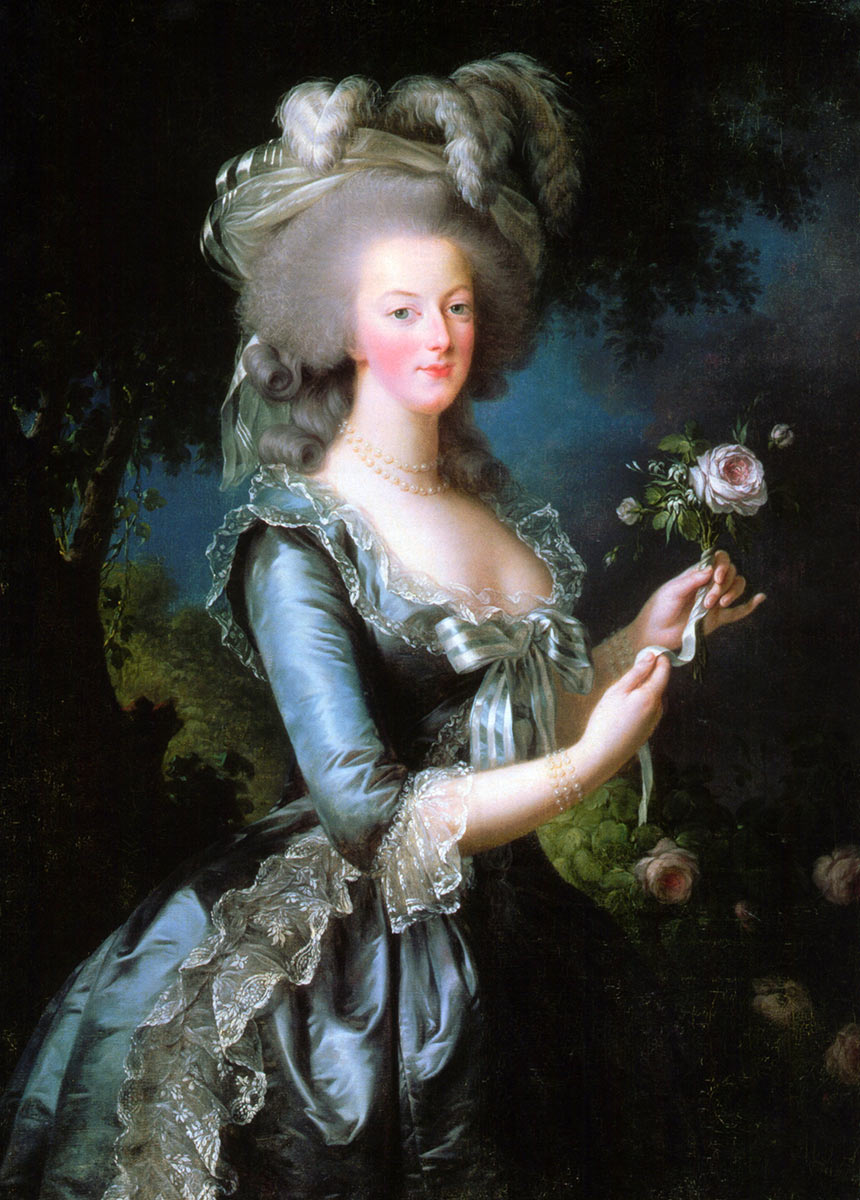 Marie-Antoinette Queen of France, portrait by Vigée-Lebrun, oil on canvas, 1783. © Palace of Versailles, Dist. NMR / © Christophe Fouin.