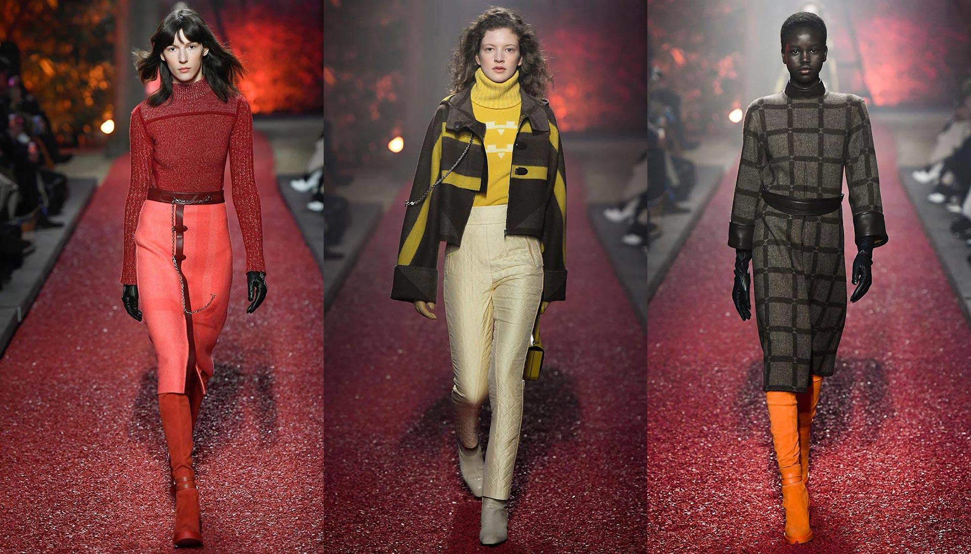 Hermès défilé prêt-à-porter automne hiver 2018. Photo: @Jean-François José.