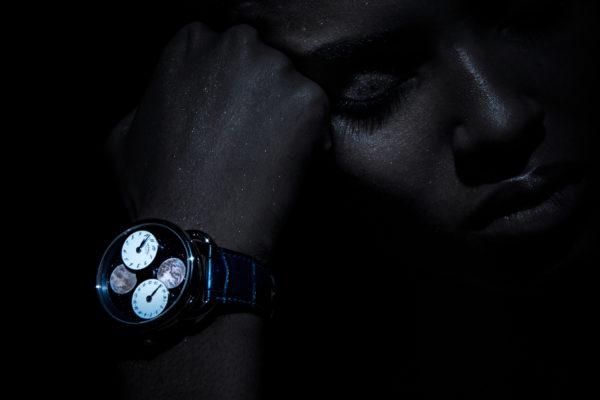 Arceau L'Heure de la Lune, Hermès Horloger ©Buonomo & Cometti Model : Elodie@elite Merci à Evane boulanger @elite