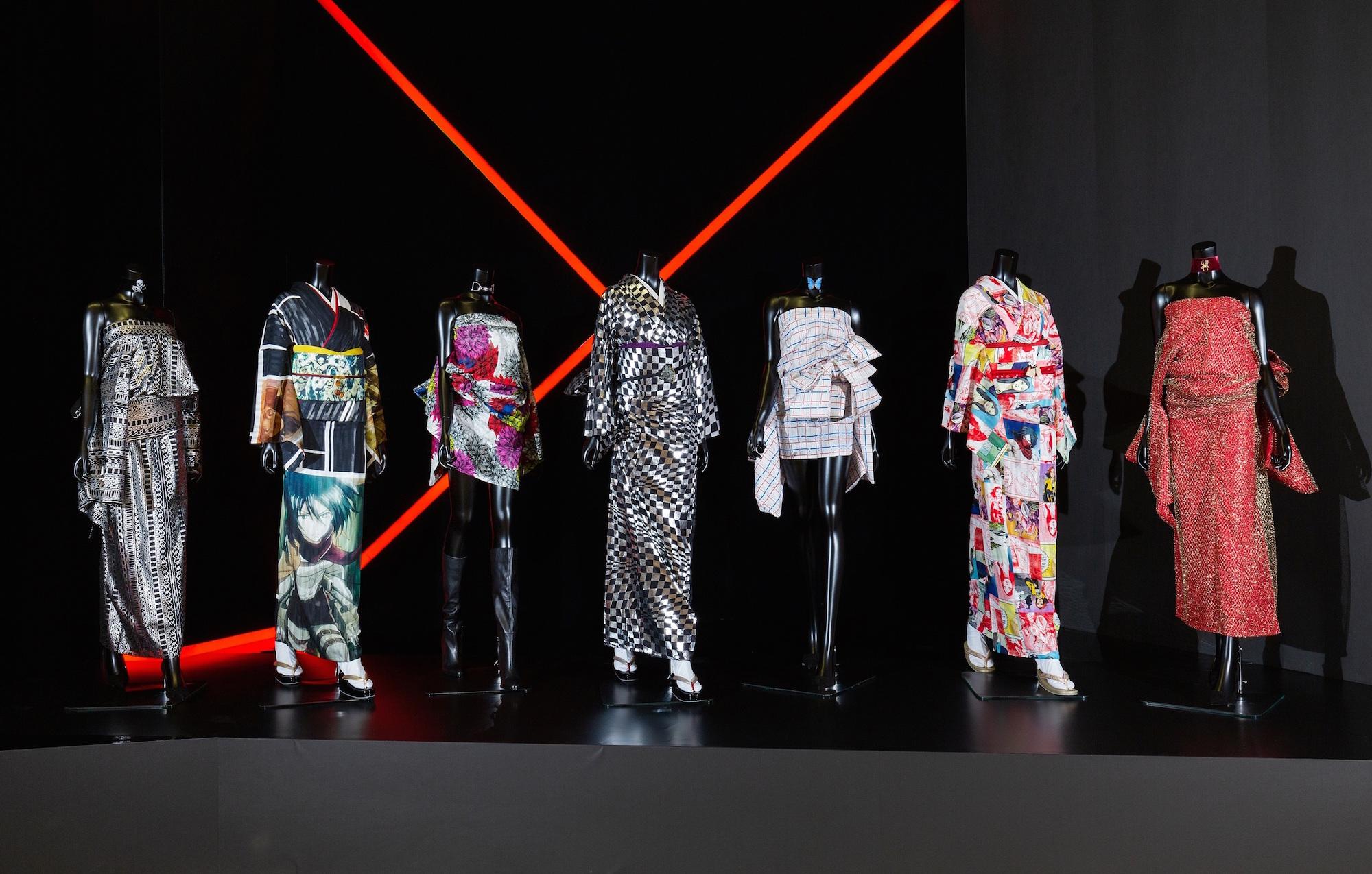 Hijacking of kimonos by the artist Yoshiki
