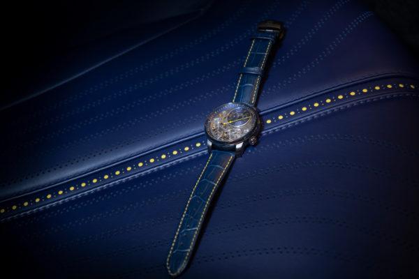 Ce modèle d'Aston Martin a été fabriquée en un exemplaire unique, et s'inspire de la montre BA111OD Black Ice