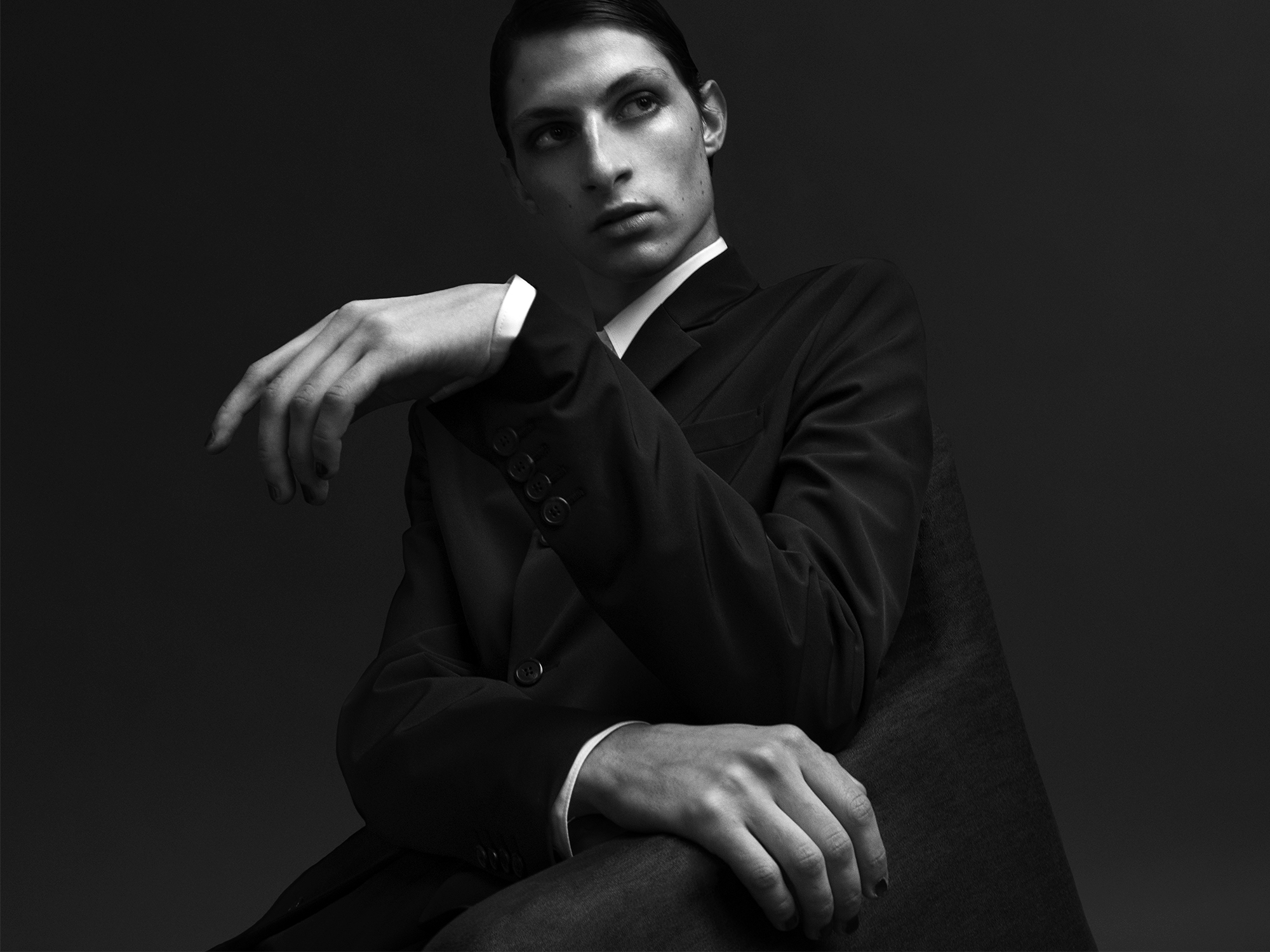 Justin @imgmodels @justindoress in Prada Homme ©Buonomo & Cometti
