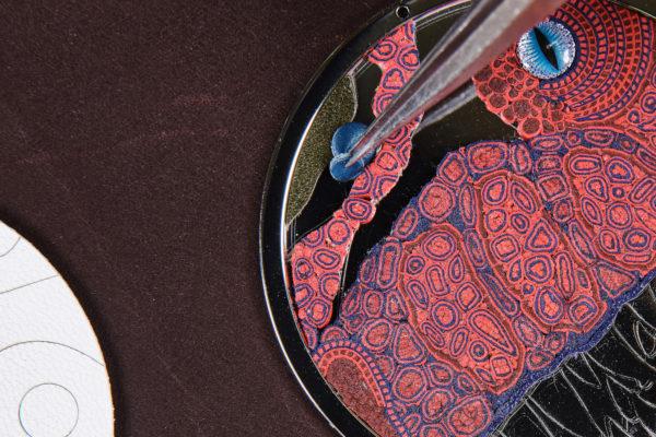 Arceau Pocket Aaaaargh! Hermès, pose de la crête. ®David Marchon - copie