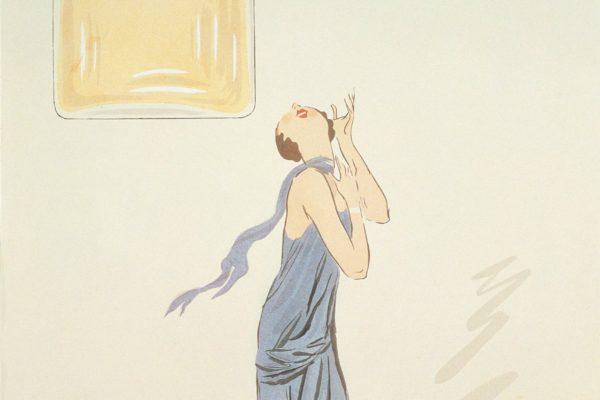 Le parfum N°5 de Chanel par le dessinateur Sem, lithographie entre 1921 and 1924. ©Chanel